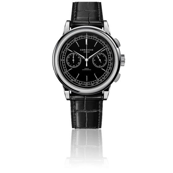 Montre Heritage Chronograph 39 Acier Inoxydable Cadran Noir