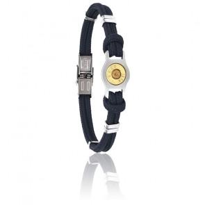 Bracelet Douille Bang Bang, Cordon Marine & Acier
