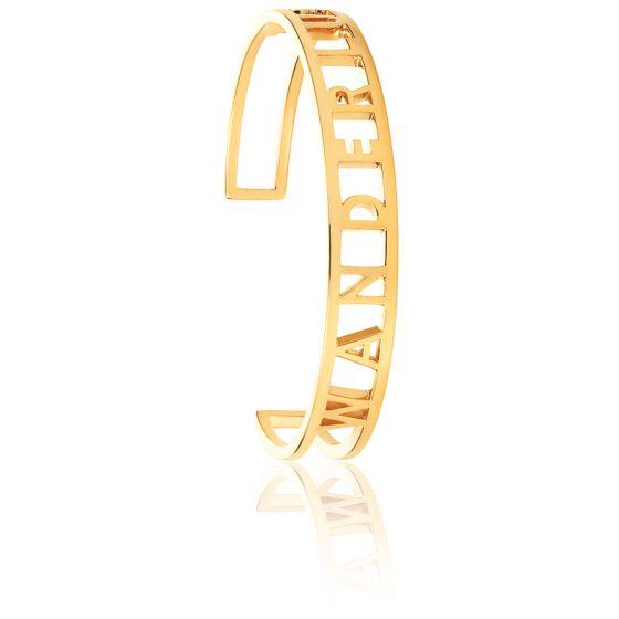 Bracelet Manchette Wanderlust Plaqué Or Jaune 14K
