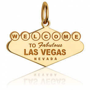 Pendentif Welcome To Vegas Plaqué Or Jaune 14K