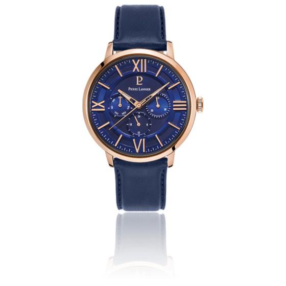 Montre Beaucour bleu / cuir 254C466