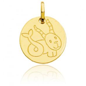 Médaille Zodiaque Petit Capricorne Or Jaune 18K