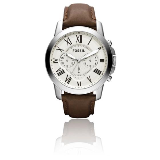 montre homme bracelet cuir fossil