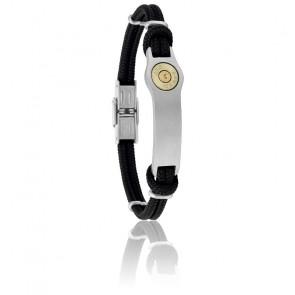 Bracelet Douille Bang Bang GM Cordon Noir & Acier