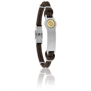 Bracelet Douille Bang Bang GM Cordon Marron & Acier