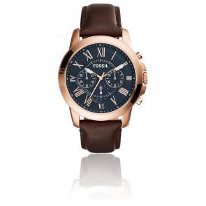 Montre Grant Chronographe cuir brun FS5068IE