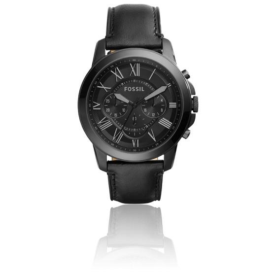 Montre Grant Chronographe cuir noir FS5132IE