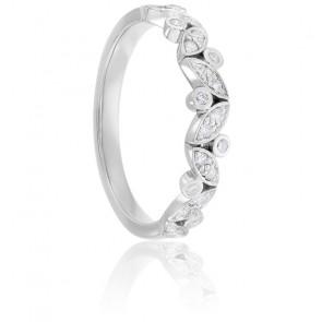 Alliance Epis & Diamants Or Blanc 18K