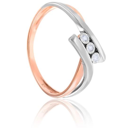 bague diamant double anneau