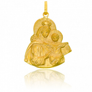 Pendentif Silhouette Vierge Maternelle Or Jaune 18K