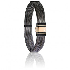Bracelet 701N Poils Éléphant, Acier & Or Rose 18K