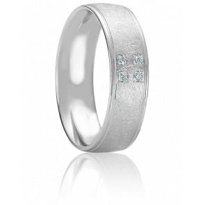 Alliance Egio Or Blanc et Diamants