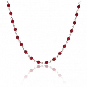 Collier Amorette Agate Rouge