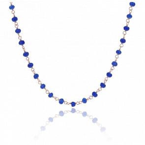 Collier Amorette Agate Bleue