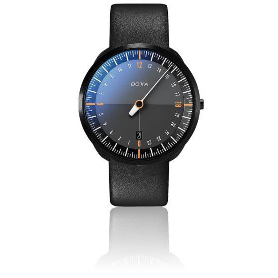 Montre UNO24 Titan Black Edition/Orange Quartz Leather Strap
