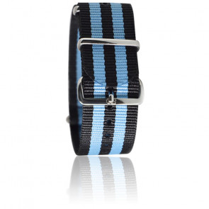 Bracelet James Bond Noir/bleu