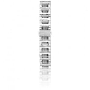 Bracelet Acier Brossé 20 mm Argent