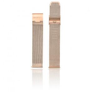 Bracelet Maille Milanaise 18 mm Or Rose MB18.PVDRG.ST