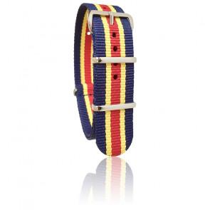 Bracelet Nato navy/rouge/jaune