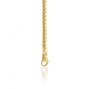 Chaîne Anglaise Creuse, Or jaune 18K, longueur 38 cm