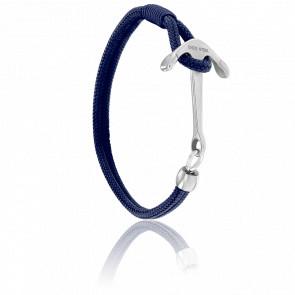 Bracelet Ancre Surf Acier Brossé & Cordon Marine
