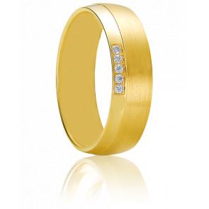 Alliance Artemi Or Jaune et Diamants