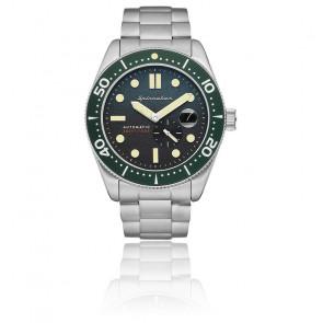 Montre Croft Acier Vert SP-5058-11