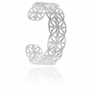 Bracelet Manchette Graphique Argent