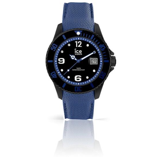 montre ice steel black blue 015783 ice watch ocarat. Black Bedroom Furniture Sets. Home Design Ideas