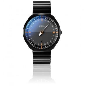 Montre UNO24 Titan Black Edition/Orange Quartz Stainless Steel