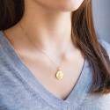 Médaille Facettée Christ de Profil Or Jaune 18K