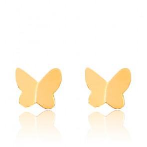 Boucles d'Oreilles Papillons Or Jaune