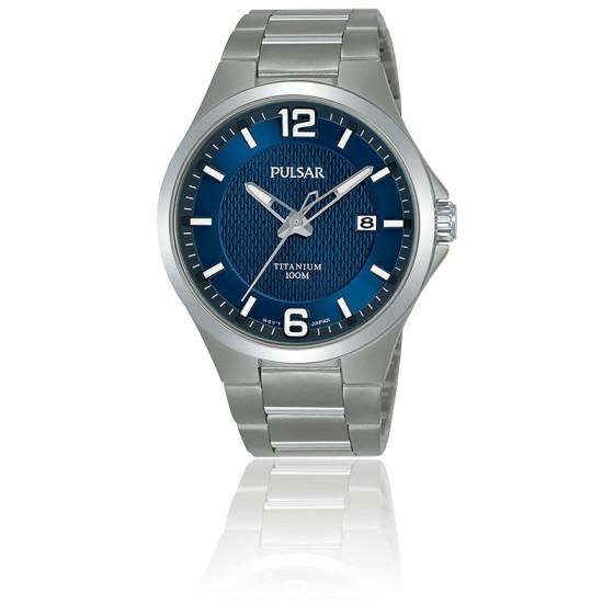 Montre Homme Sport Titane Bleu PS9611X1