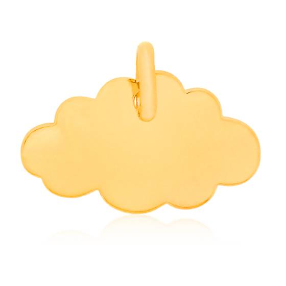 Pendentif Little Cloud Or Jaune