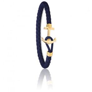 Bracelet Ancre PHREP Lite IP Or & Bleu Marine