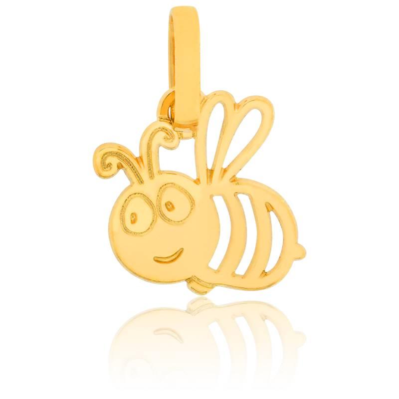 Pendentif or jaune abeille