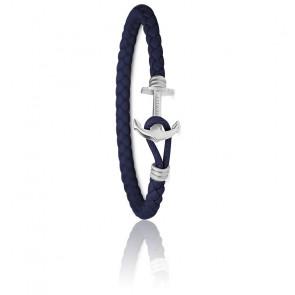 Bracelet Ancre PHREP Lite Acier & Bleu Marine