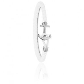 Bracelet Ancre PHREP Lite Acier & Blanc