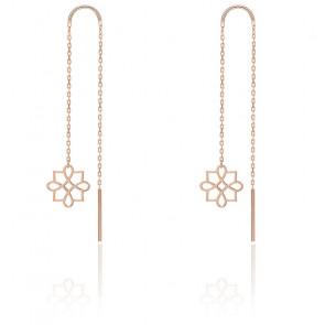 Boucles d'Oreilles pendantes Harmonie Or Rose 9K