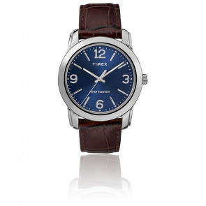 Montre Men's Brown Leather Croco Strap/Blue Dial TW2R86800