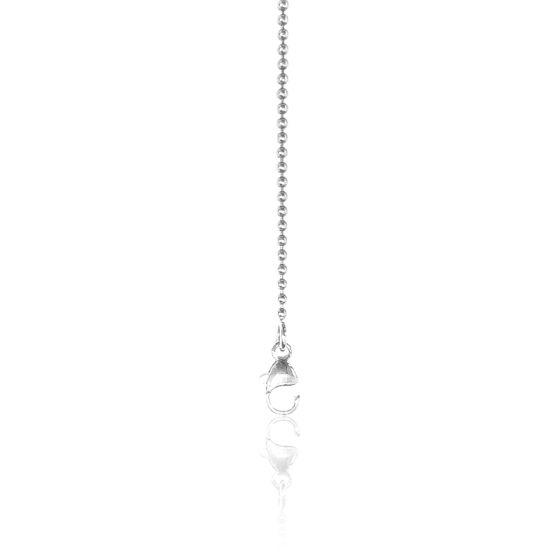 Chaîne Boule, Or Blanc 18K, longueur 70 cm