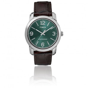 Montre Men's Brown Leather Croco Strap/Green Dial TW2R86900