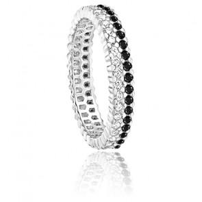 Alliance Twin Or Blanc et Diamants 0,80 ct