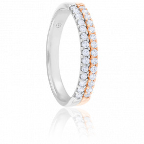 Alliance Arista Or Blanc & Or Rose 18K Diamantée 0,30 ct