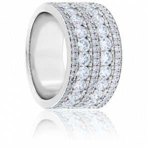 Alliance Nella Diamants & Or Blanc 18K