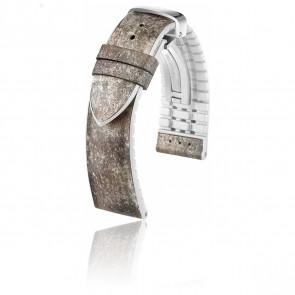 Bracelet Stone M Gris/Blanc Ardoise Souple et Caoutchouc