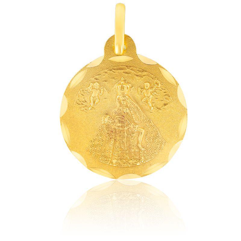 Médaille Vierge Manteau & Christ Or Jaune 18K
