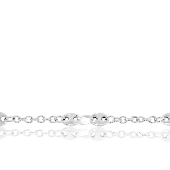 Bracelet Grain De Café Argent