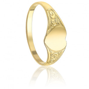Bague Antique Coeur Or Jaune 9K