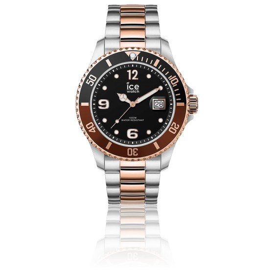 Montre ICE Steel Chic Silver Rose-Gold Large 016548L